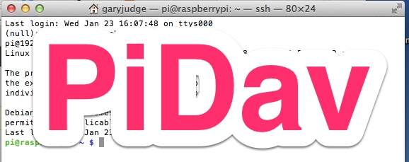 PiDav - WebDav Raspberry Pi Tutorial - Part One - HEAD4SPACE
